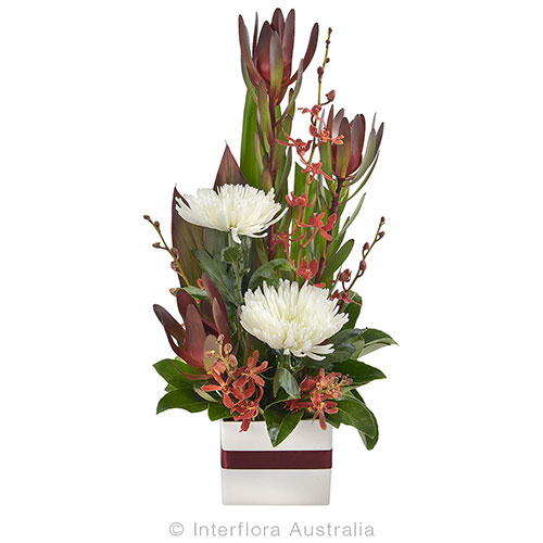 Elegant tall mini box arrangement