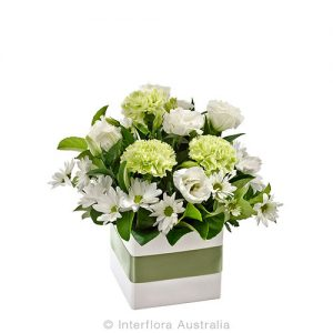 Petite mini box flower arrangement