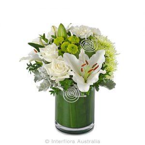 Classic white flower arrangement