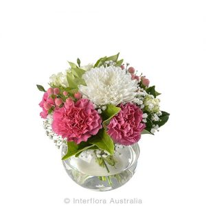 A perfect gift of flowers in a glass vase