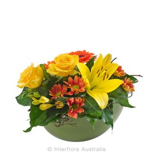 Natural earth tone flower arrangement
