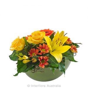 Natural earth tone flower arrangement