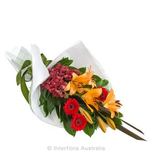 Seasonal bouquet of flowers