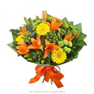 Warm colour flower bouquet
