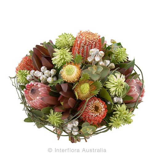 Beautiful native Australian flowers presented in a bouquet