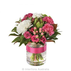 Gentley show your thoughts with pink flowers