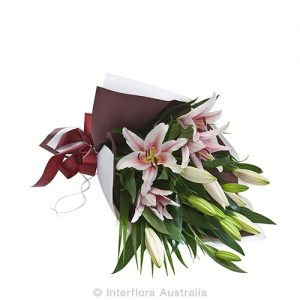 Oriental lilly wrap