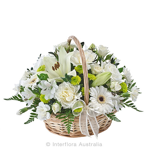 Petite floral basket to comfort you at this time