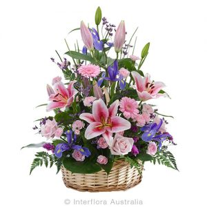 A beautiful basket for a floral tribute