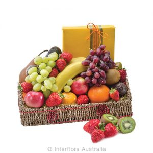 Show your congratulations with fresh seasonal fruit and gourmet chocolates