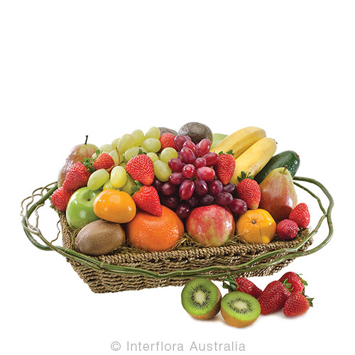 Enjoy a range of fresh seasonal fruit in a basket