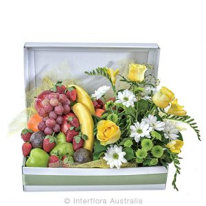 Fresh seasonal fruit and flowers for someone special